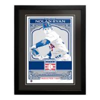 MLB Texas Rangers Nolan Ryan That's My Ticket Serigraph with Frame