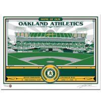 MLB Oakland Alameda Coliseum That's My Ticket Serigraph