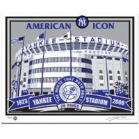 MLB Old Yankee Stadium That's My Ticket Serigraph