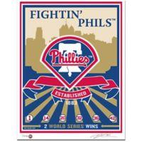 MLB Philadelphia Phillies Logo That's My Ticket Serigraph
