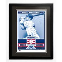 MLB New York Yankees Hall-of-Famer Reggie Jackson That's My Ticket Serigraph with Frame