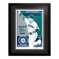 MLB Seattle Mariners Robinson Cano That's My Ticket Serigraph with Frame