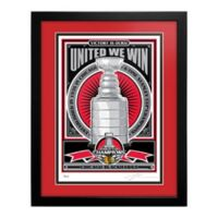 NHL Chicago Blackhawks 2015 Stanley Cup Champions That's My Ticket Serigraph with Frame