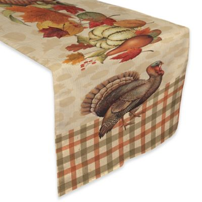 Laural Home® Bountiful Harvest 90 Inch Table Runner