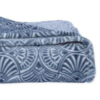 Berkshire Blanket® Velvet Loft Throw Blanket in Blue
