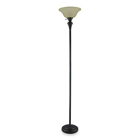 Torchiere floor lamp in bronze bed bath beyond for Torchiere floor lamp bed bath and beyond