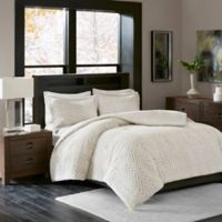 Madison Park Adelyn Ultra Plush Full/Queen Comforter Set in Ivory