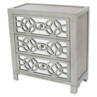 River of Goods Glam Slam 3-Drawer Chest in Silver