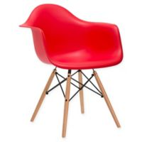 Poly and Bark Vortex Arm Chair in Red