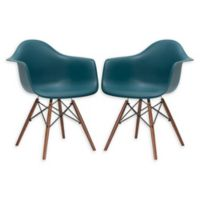 Poly And Bark Dining Chair in Teal (Set of 2)