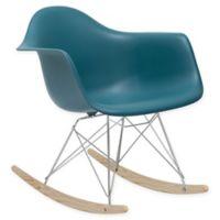 Rocker Lounge Chair in Teal