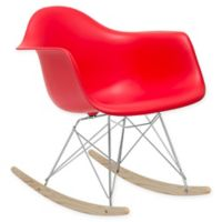 Rocker Lounge Chair in Red