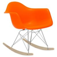 Rocker Lounge Chair in Orange