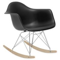 Rocker Lounge Chair in Black