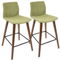 LumiSource Cabo Counter Bar Stools in Green (Set of 2)