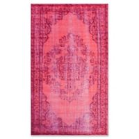 nuLOOM Vintage-Inspired Overdyed Medallion 5-Foot 5-Inch x 8-Foot 2-Inch Area Rug in Pink