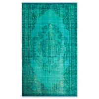 nuLOOM Vintage-Inspired Overdyed Medallion 5-Foot 5-Inch x 8-Foot 2-Inch Area Rug in Turquoise