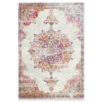 nuLOOM Sunny Wildflower Medallion 5-Foot x 7-Foot 5-Inch Area Rug in Pink
