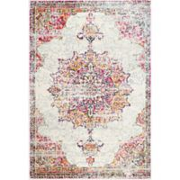 nuLOOM Sunny Wildflower Medallion 8-Foot x 10-Foot Area Rug in Pink
