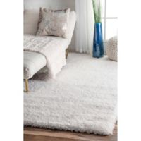 nuLOOM Gynel Cloudy Shag 5-Foot 3-Inch x 7-Foot 6-Inch Area Rug in White