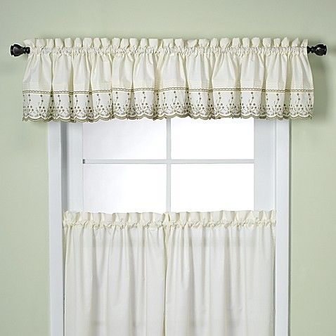 Abby Kitchen Window Tailored Valance in Sage