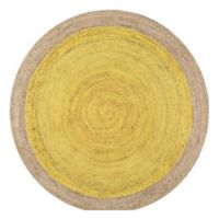 nuLOOM Eleonora 6-Foot Round Area Rug in Yellow