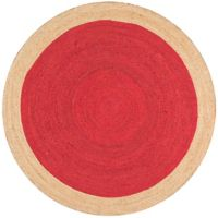 nuLOOM Eleonora 6-Foot Round Area Rug in Red