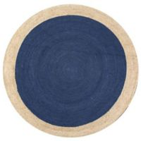 nuLOOM Eleonora 6-Foot Round Area Rug in Blue
