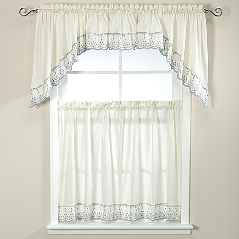 Abby Kitchen Window Curtain Tiers Wedgwood Bed Bath Beyond