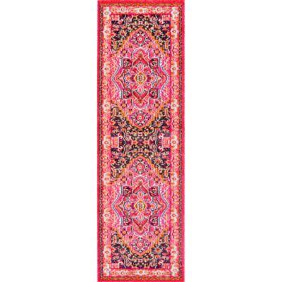 Nuloom Vintage Mackenzie 2 Foot 6 Inch X 8 Runner In Pink