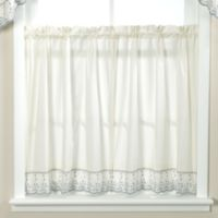 Abby Wedgwood Kitchen Window Curtain Tier Pair - 36-Inch