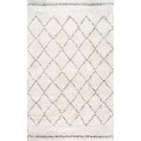 nuLOOM Vennie Shaggy 7-Foot 6-Inch x 9-Foot 6-Inch Area Rug in Natural