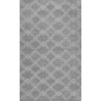 nuLOOM Wilhelmina 7-Foot 6-Inch x 9-Foot 6-Inch Area Rug in Grey