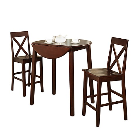 3 Piece Drop Leaf Pub Table Gathering Set