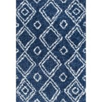 nuLOOM Iola Easy Shag 5-Foot 3-Inch x 7-Foot 6-Inch Area Rug in Blue
