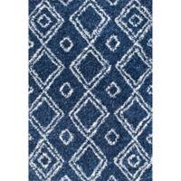 nuLOOM Iola Easy Shag 6-Foot 7-Inch x 9-Foot Area Rug in Blue