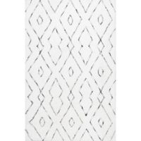 nuLOOM Beaulah Shaggy 9-Foot x 12-Foot Area Rug in White