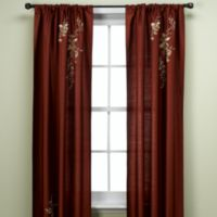 Alesandra 95-Inch Tailored Window Curtain Panel in Cinnabar