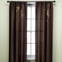 Alesandra 63-Inch Tailored Window Curtain Panel in Chocolate
