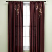 Alesandra 95-Inch Tailored Window Curtain Panel in Eggplant