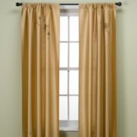 Alesandra 84-Inch Tailored Window Curtain Panel in Gold