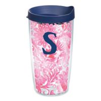 """Tervis® Blooming Wrap 16 oz. Initial """"A"""" Tumbler with Lid"""