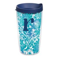 """Tervis® Blooming Wrap 16 oz. Initial """"R"""" Tumbler with Lid"""