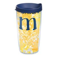 """Tervis® Blooming Wrap 16 oz. Initial """"M"""" Tumbler with Lid"""