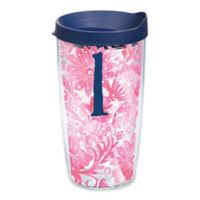 """Tervis® Blooming Wrap 16 oz. Initial """"L"""" Tumbler with Lid"""