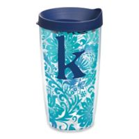 """Tervis® Blooming Wrap 16 oz. Initial """"K"""" Tumbler with Lid"""