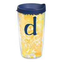 """Tervis® Blooming Wrap 16 oz. Initial """"D"""" Tumbler with Lid"""