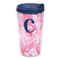 """Tervis® Blooming Wrap 16 oz. Initial """"C"""" Tumbler with Lid"""