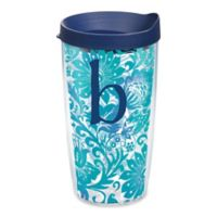 """Tervis® Blooming Wrap 16 oz. Initial """"B"""" Tumbler with Lid"""