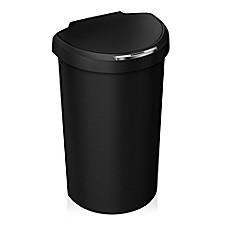 simplehuman plastic 40 liter semi round sensor trash can bed bath beyond. Black Bedroom Furniture Sets. Home Design Ideas